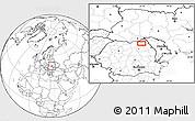 Blank Location Map of Văculeşti