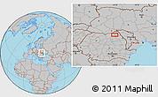 Gray Location Map of Suceava