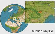 Satellite Location Map of Văculeşti