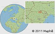 Savanna Style Location Map of Văculeşti