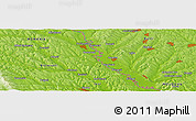 "Physical Panoramic Map of the area around 47° 41' 6"" N, 27° 16' 29"" E"