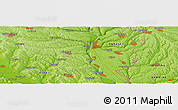 Physical Panoramic Map of Zahorna