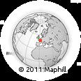 Outline Map of La Martinique, rectangular outline