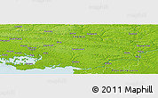 """Physical Panoramic Map of the area around 47°41'6""""N,2°28'30""""W"""