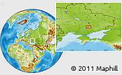 Physical Location Map of Dneprovskoye
