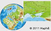 Physical Location Map of Dolinka