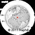 Outline Map of Orikhiv, rectangular outline