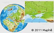 Physical Location Map of Dobryy Zatyshok