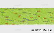 Physical Panoramic Map of Dobryy Zatyshok
