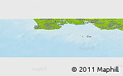 """Physical Panoramic Map of the area around 47°41'6""""N,4°10'30""""W"""