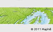 Physical Panoramic Map of Tacks Beach