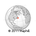 """Outline Map of the Area around 47° 41' 6"""" N, 56° 1' 29"""" W, rectangular outline"""