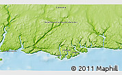 """Physical 3D Map of the area around 47°41'6""""N,56°52'30""""W"""