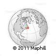 """Outline Map of the Area around 47° 41' 6"""" N, 56° 52' 30"""" W, rectangular outline"""