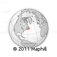"""Outline Map of the Area around 47° 41' 6"""" N, 57° 43' 30"""" W, rectangular outline"""