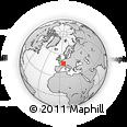 Outline Map of Langres, rectangular outline