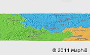 Political Panoramic Map of Langres