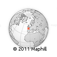"""Outline Map of the Area around 47° 41' 6"""" N, 5° 1' 30"""" W, rectangular outline"""