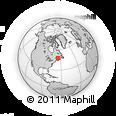 Outline Map of Bathurst, rectangular outline