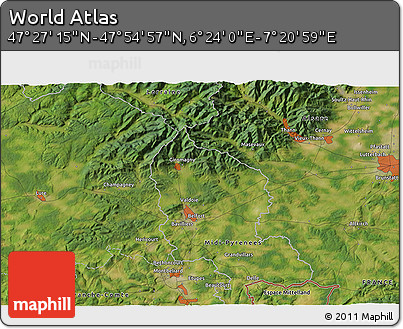 """Satellite 3D Map of the Area around 47°41'6""""N,6°52'30""""E"""
