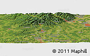 Satellite Panoramic Map of Lutterbach