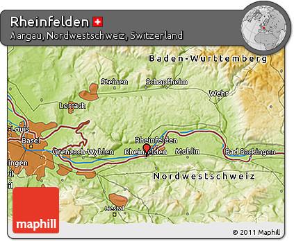 Physical 3D Map of Rheinfelden
