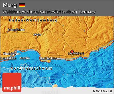Political 3D Map of Murg