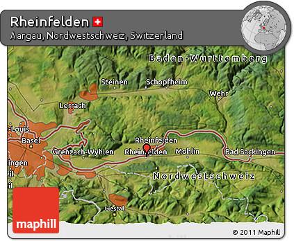Satellite 3D Map of Rheinfelden