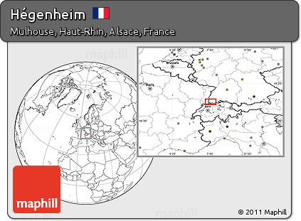 Blank Location Map of Hégenheim