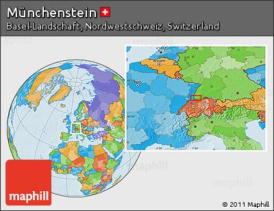 Political Location Map of Münchenstein