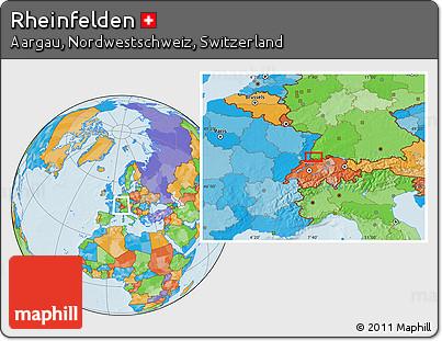 Political Location Map of Rheinfelden
