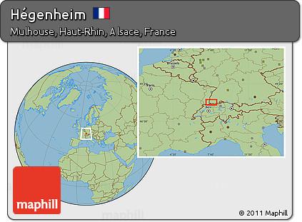 Savanna Style Location Map of Hégenheim