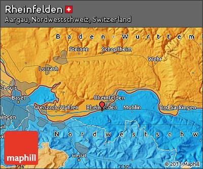 Political Map of Rheinfelden