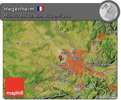 Satellite Map of Hégenheim