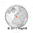 Outline Map of Kandern, rectangular outline