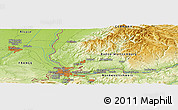 Physical Panoramic Map of Kandern