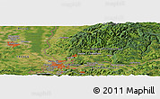Satellite Panoramic Map of Therwil