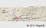 Shaded Relief Panoramic Map of Kandern