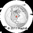 Outline Map of Gogama, rectangular outline