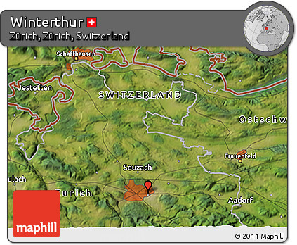 Free Satellite 3D Map of Winterthur