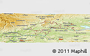 """Physical Panoramic Map of the area around 47°41'6""""N,8°34'29""""E"""
