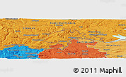 """Political Panoramic Map of the area around 47°41'6""""N,8°34'29""""E"""