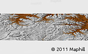 """Physical Panoramic Map of the area around 47°41'6""""N,98°40'30""""E"""