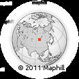 Outline Map of Noyon Hangay Ashan, rectangular outline