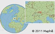 "Savanna Style Location Map of the area around 47°41'6""N,9°25'30""E"
