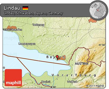 Lindau Germany Map.Free Physical Map Of Lindau