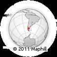 Outline Map of Lago Posadas, rectangular outline