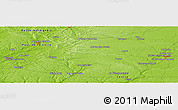 "Physical Panoramic Map of the area around 48° 5' 50"" N, 0° 55' 29"" E"
