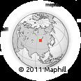 Outline Map of Chuluut Valley, rectangular outline