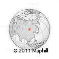 Outline Map of Berheiin Hiid, rectangular outline